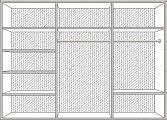 Диана спальня комплект: кровать 160 + 2 тумбы + комод + 6 дв шкаф беж
