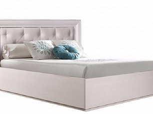 Амели кровать 90х200 с мягким элементом с подъемным механизмом беленый дуб