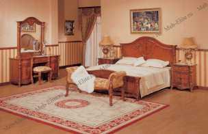 Ангелина спальня комплект: кровать 180+стол туалетный с/з+2тумбы прикроватные+шкаф 4дверный