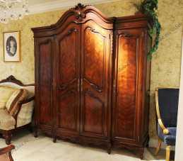 Луи 15 (Louis XV) шкаф 4 дверный орех