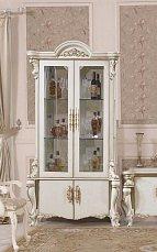 Опера Крема витрина 2 дверная глянец