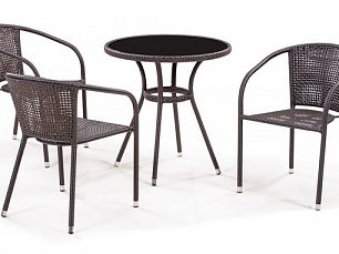 Комплект мебели 3+1 T282ANS/ Y137В-W51-3PCS иск. ротанг