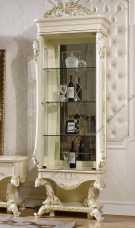 Роял витрина 1-дверная левая или правая слоновая кость+золото