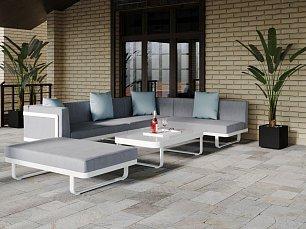 Хасиенда мягкая мебель: диван правый + диван левый + диван центральный + пуф для ног + кофейный столик